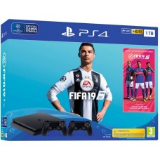 PlayStation 4 SLIM Bundle (1 Tb, FIFA 19, DualShock 4 V2), 223353, Консоли